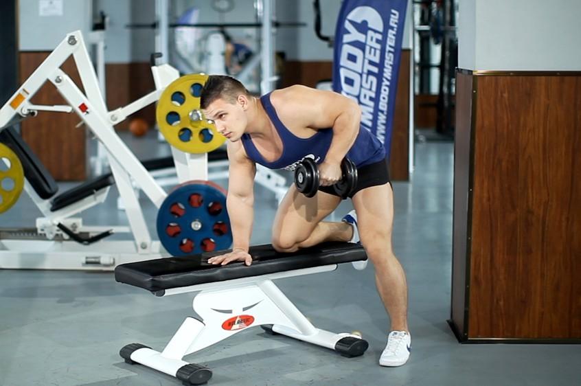 Exercise Tricep Dumbbell Kickback