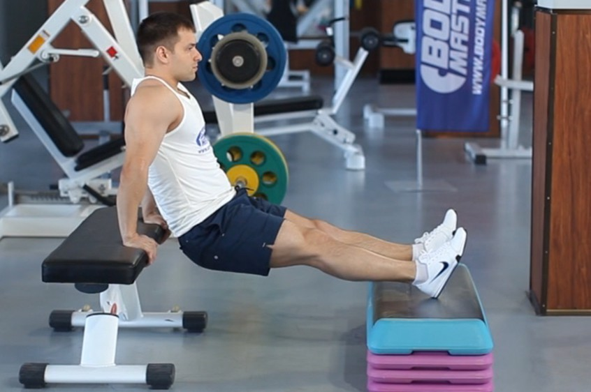 Exercise Bench Dips