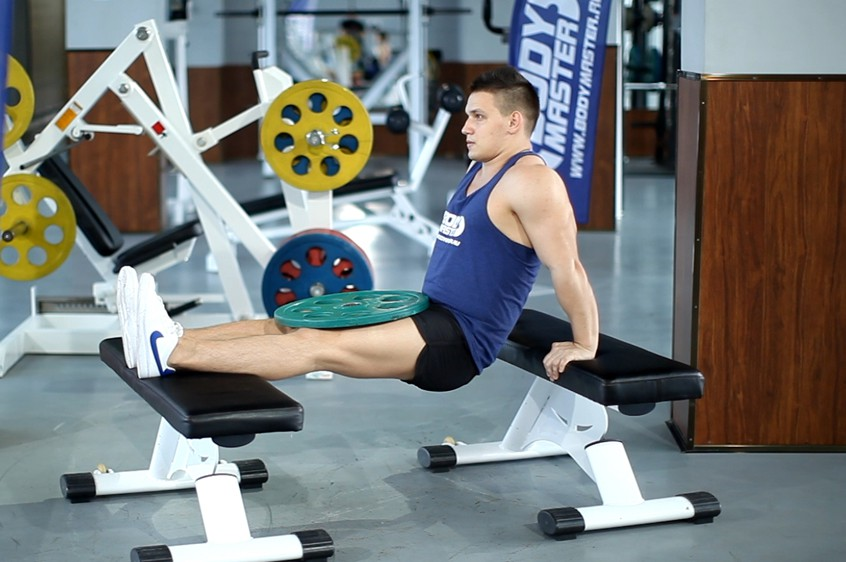 Exercise Weighted Bench Dip