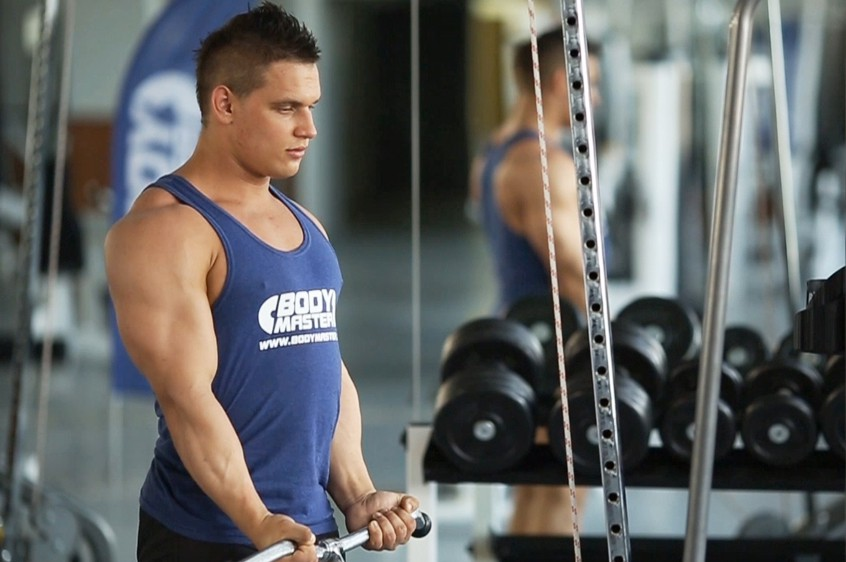 Exercise Standing Biceps Cable Curl