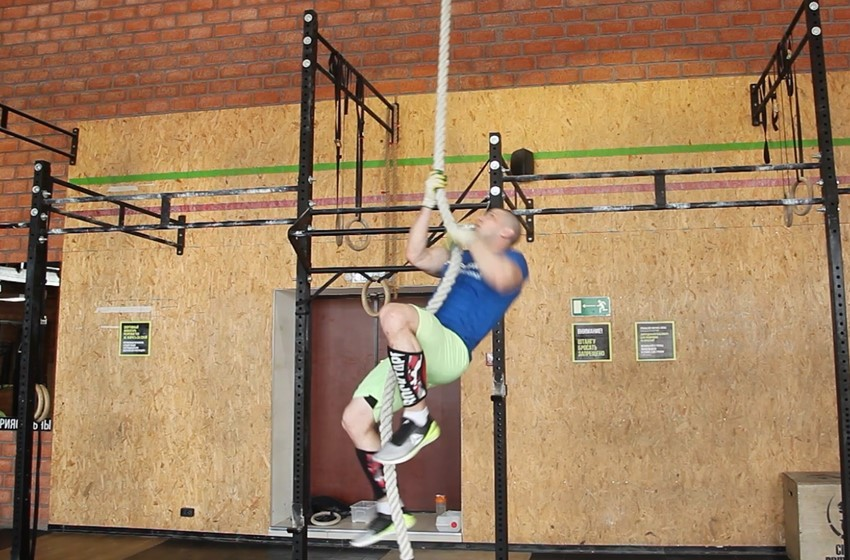 Exercise Rope Climb
