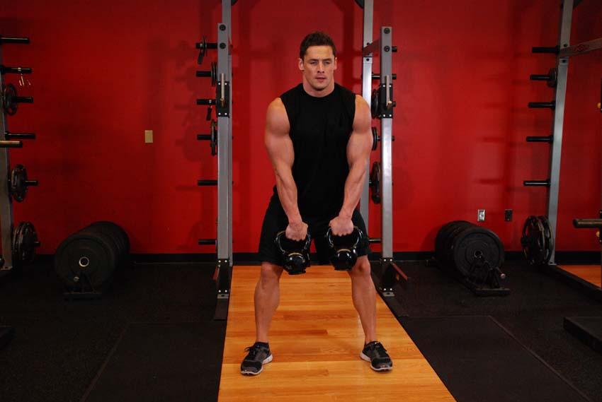 Exercise Double Kettlebell Alternating Hang Clean