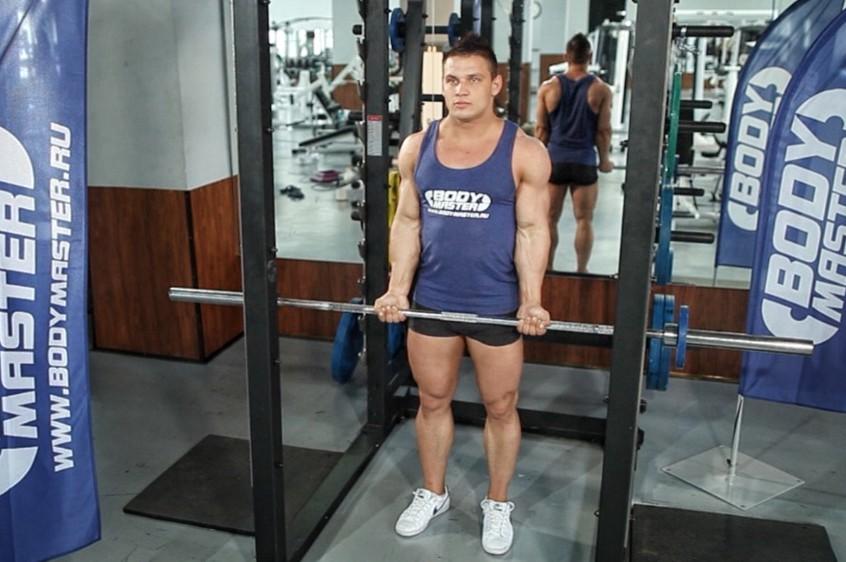 Упражнение Подъем штанги на бицепс