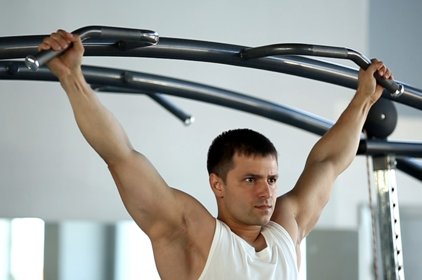 Exercise Wide-Grip Rear Pull-Up