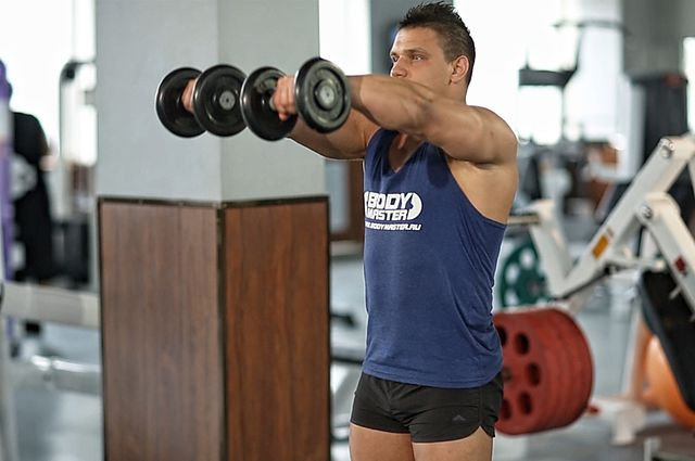Photo of Front Two-Dumbbell Raise exercise