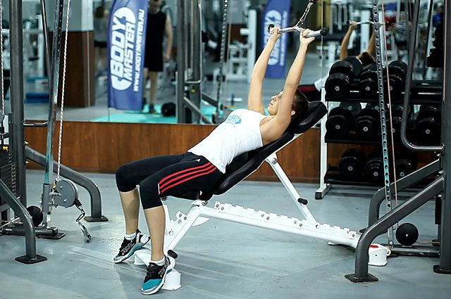 Photo of Cable Incline Pushdown exercise