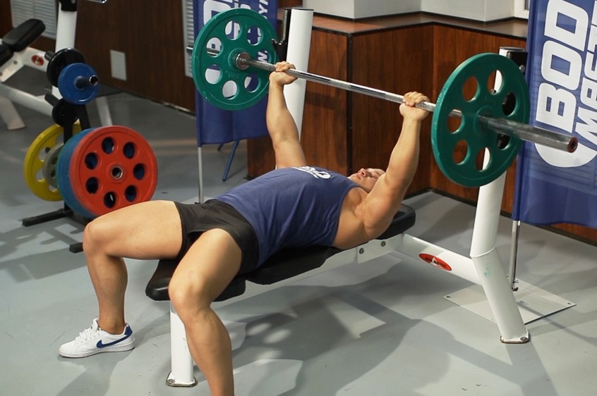 Exercise Barbell Guillotine Bench Press