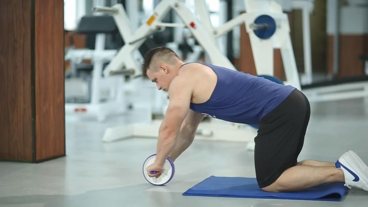 Упражнение Пресс с гимнастическим роликом