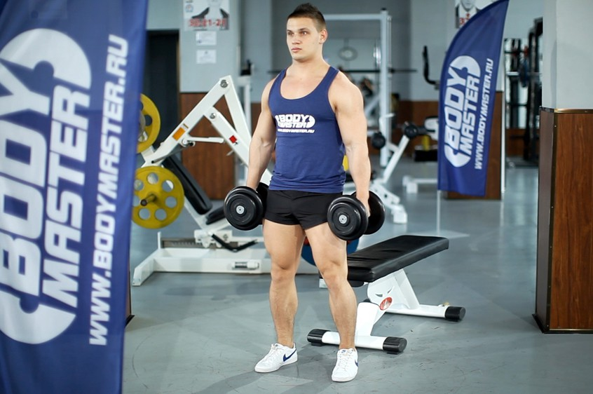 Exercise Dumbbell Squat To A Bench