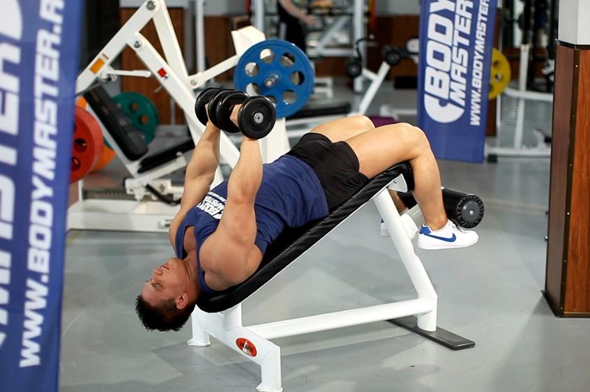 Exercise Decline Dumbbell Bench Press
