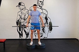 Romanian Deadlift from Deficit