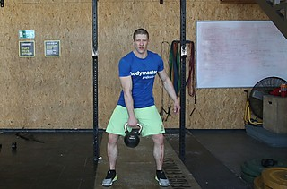 One-Arm Kettlebell Clean and Jerk