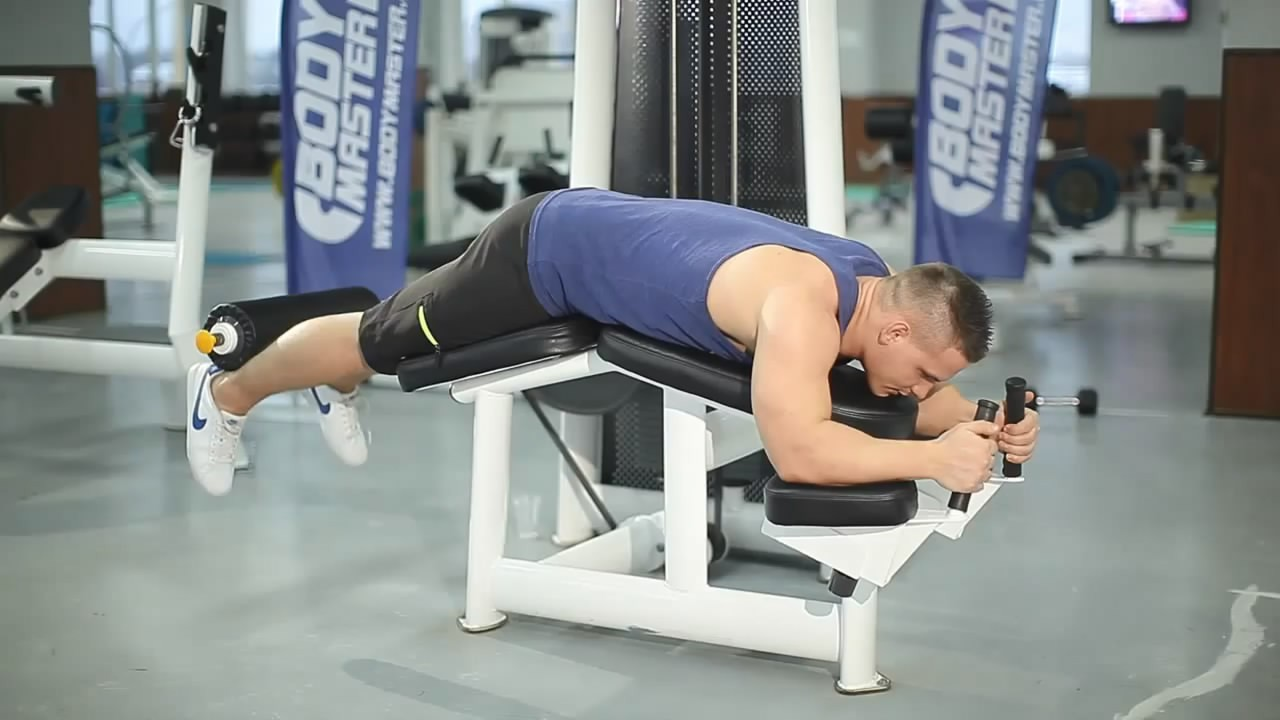 Exercise Lying Leg Curls