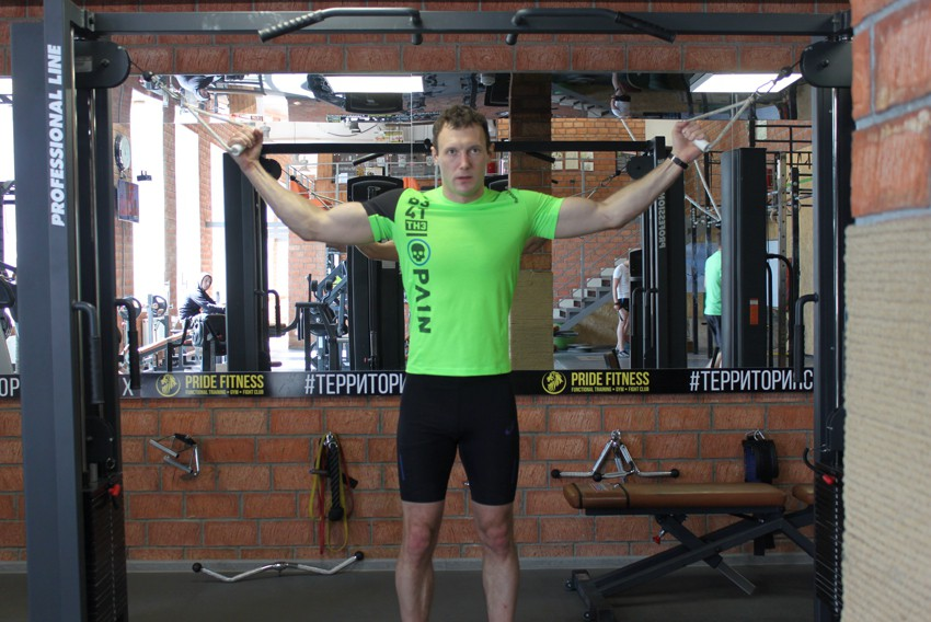 Exercise Overhead Cable Curl