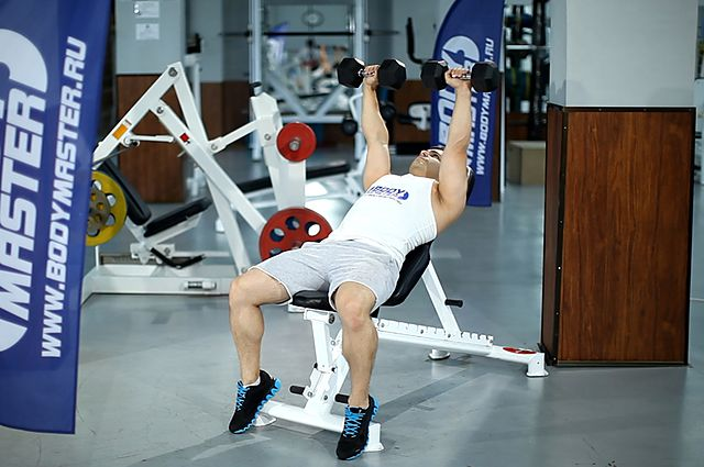 Photo of Incline Dumbbell Press exercise