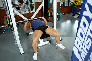 Smith Machine Close-Grip Bench Press