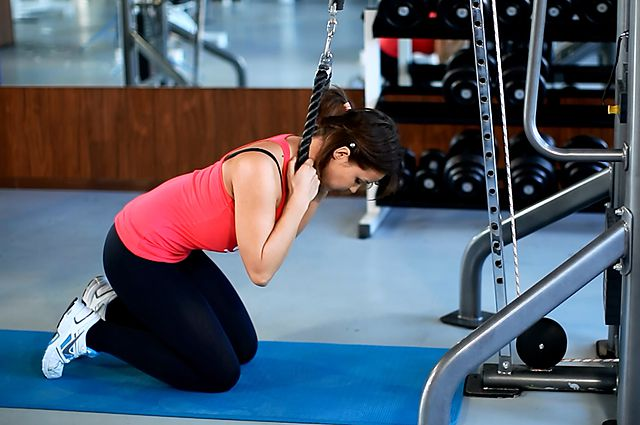Photo of Cable Crunch  exercise
