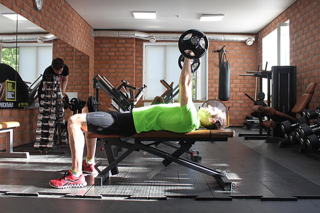 Photo of Lying Close-Grip Barbell Triceps Extension Behind The Head exercise