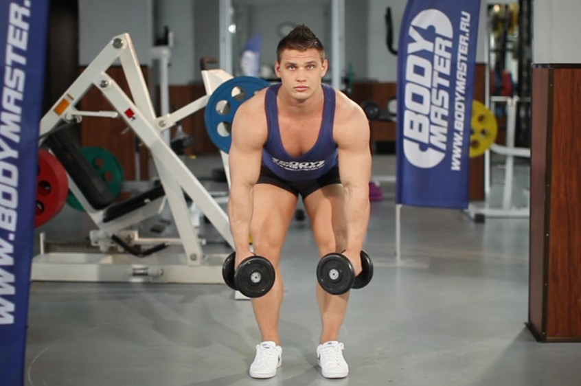 Exercise Bent Over Two-Dumbbell Row