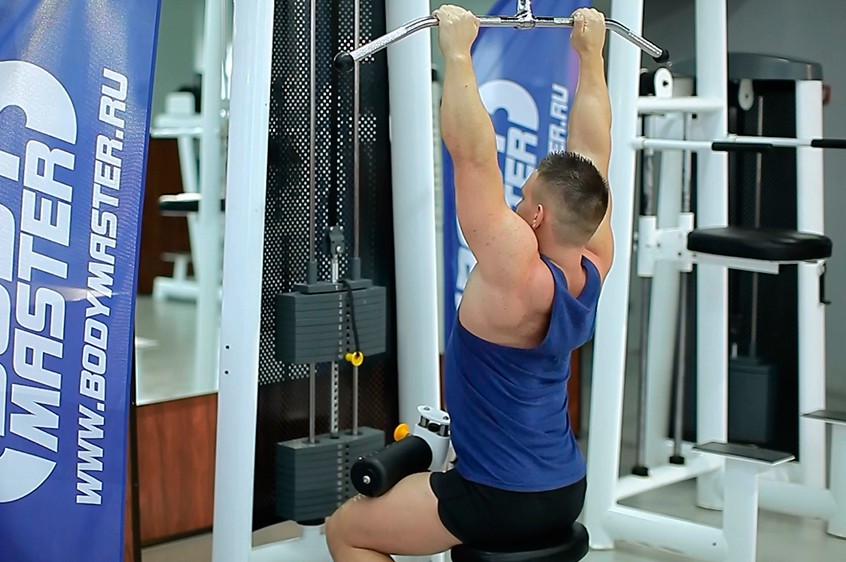 Exercise Close-Grip Front Lat Pulldown