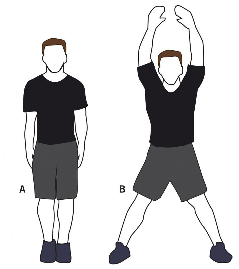 Упражнение Прыжки с махом рук