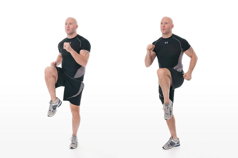 Упражнение Бег на месте с высоким подниманием бедра