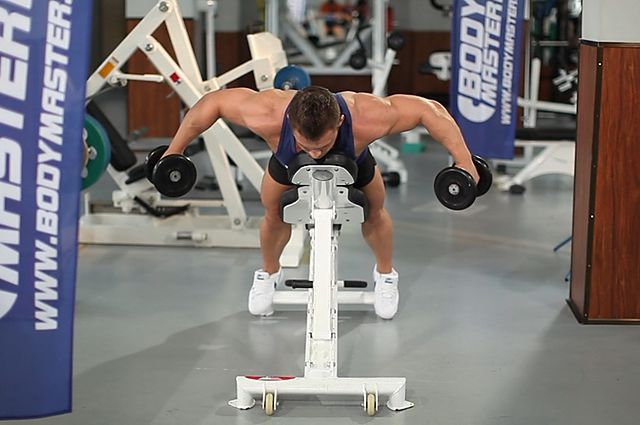 Photo of Dumbbell Lying Rear Lateral Raise  exercise