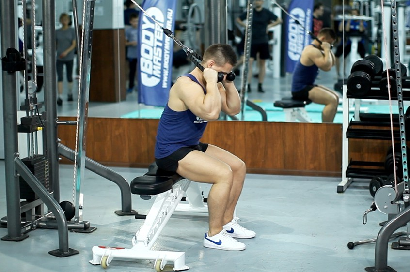 Exercise Cable Seated Crunch