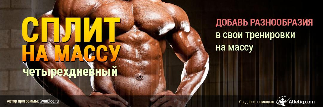 Набор мышечной массы » Четырехдневный сплит на массу