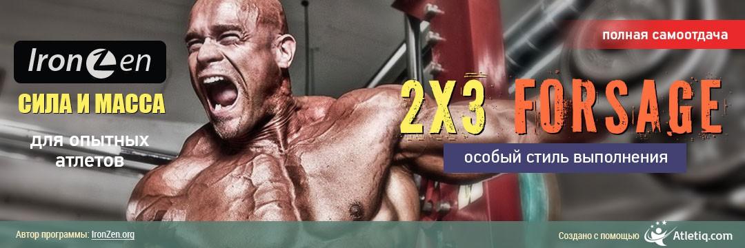 Набор мышечной массы » 2x3 Forsage