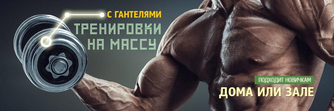 Набор мышечной массы » Тренировки с гантелями на массу