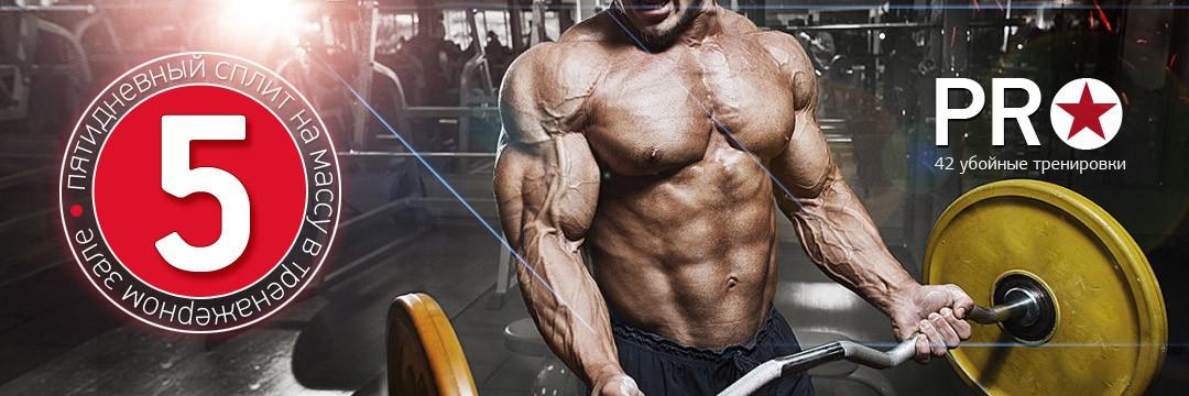 Набор мышечной массы » 5 дневный PRO-сплит на массу